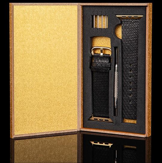 Black Python Apple Watch Strap